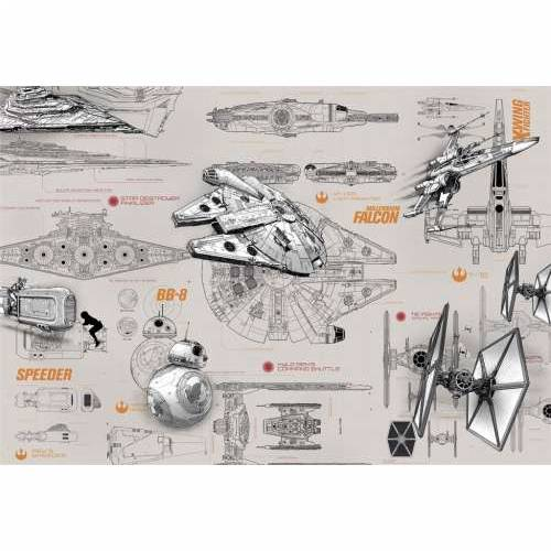 Foto tapeta Star Wars Blueprints 8-493 368x254 cm Cijena