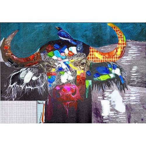 Slika Touched Wildlife Buffalo 70x100x1.5 cm Cijena