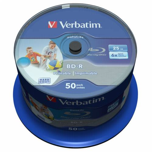 1x50 Verbatim BD-R Blu-Ray 25GB 6x Speed DL Wide Printable CB Cijena