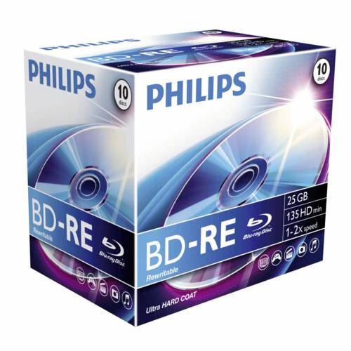1x10 Philips Blu-Ray ReWritable 25GB 2x JC Cijena
