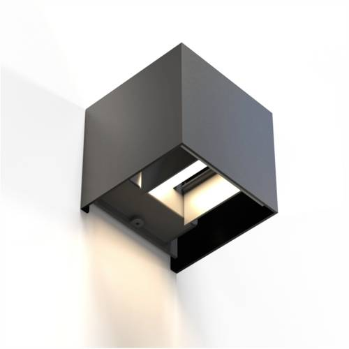 Hama WiFi wall light 10cm IP44 squared black Cijena