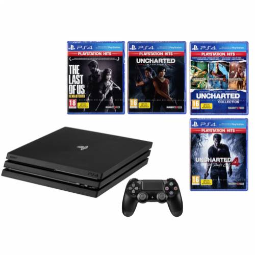 Sony Playstation 4 Pro 1TB inkl. PS Hits Naughty Dog Bundle Cijena