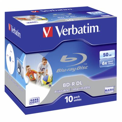 1x10 Verbatim BD-R Blu-Ray 50GB 6x Speed printable Jewel Case Cijena
