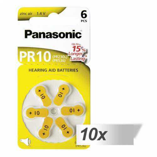 10x1 Panasonic PR 10 Hearing Aid Batteries Zinc Air 6 pcs. Cijena