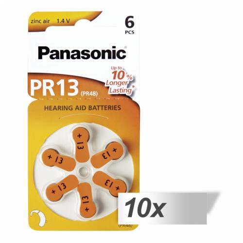 10x1 Panasonic PR 13 Hearing Aid Batteries Zinc Air 6 pcs. Cijena