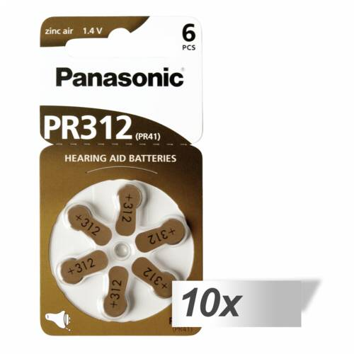 10x1 Panasonic PR 312 Hearing Aid Batteries Zinc Air 6 pcs. Cijena