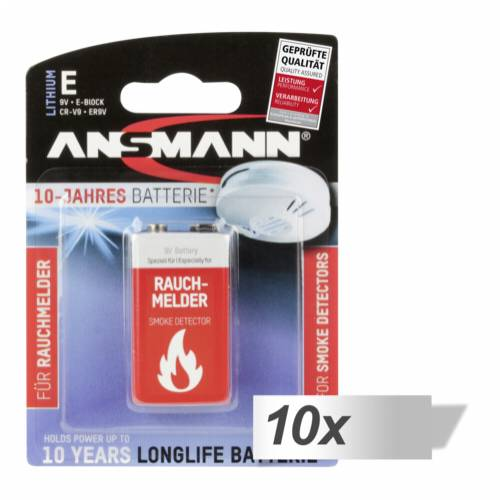 10x1 Ansmann Lithium 9V-Block specifically for Smoke Detector Cijena