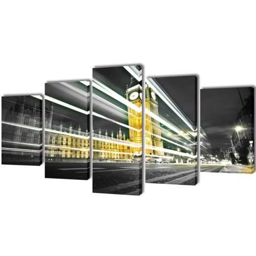 Zidne Slike na Platnu s Printom London Big Ben 100 x 50 cm