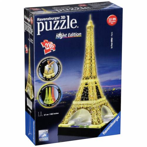 Ravensburger 3D Puzzle Eiffel Tower Night Edition Cijena