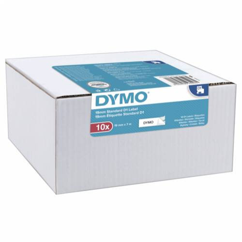 1x10 Dymo D1 Label  19mmx7m black to white Cijena